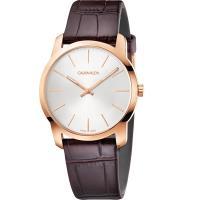 Calvin CK Klein City 極簡城市手錶-玫瑰金框/37mm K2G226G6