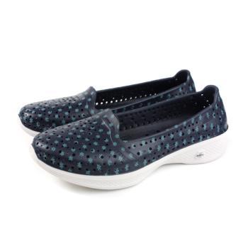 SKECHERS H2GO 懶人鞋 洞洞鞋 女鞋 深藍色 小碎花 14697NVBL no973