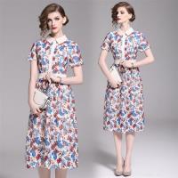 【M2M】時尚修身顯瘦蕾絲印花洋裝S-2XL