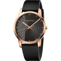 Calvin Klein CK City 都會系列手錶-黑x玫瑰金框/43mm K2G2G6C3