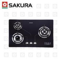 櫻花牌 SAKURA 瓦斯爐 三口防乾燒節能檯面爐 G-2830KG