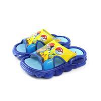 精靈寶可夢 皮卡丘 拖鞋 防水 雨天 童鞋 藍色 中童 PA1719 no788