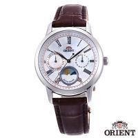 ORIENT東方錶 珍愛絮語日月相藍寶石石英女錶-貝面x34.5mm  RA-KA0005A00B