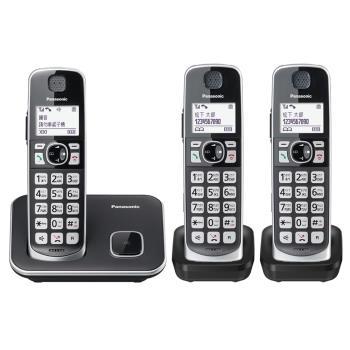【贈Panasonic 刮鬍刀】Panasonic國際牌KX-TGE613TW中文大字鍵三話機無線電話