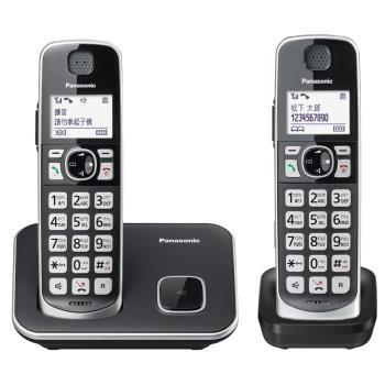【贈Panasonic 輕巧電動刮鬍刀】Panasonic 國際牌KX-TGE612TW 大聲音大字鍵雙子機無線電話