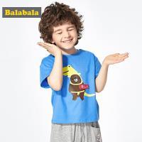 Balabala巴拉巴拉-趣味小熊印花純棉短短袖T恤-男(28172191170)