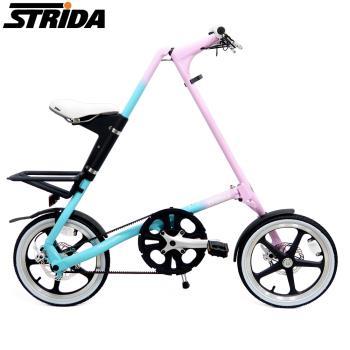 STRiDA速立達 16吋單速LT版碟剎折疊單車/三角形單車-漸層色