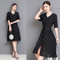 韓國K.W. (預購) 賣瘋了美感流線飛織名媛洋裝