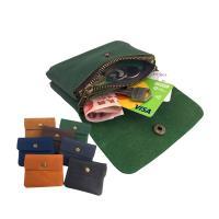 【玩皮工坊】日韓真皮頭層牛皮復古男女通用拉鍊零錢包男夾女夾卡片包LH333