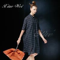 CHENG DA 春夏專櫃精品女裝時尚短袖襯衫洋裝NO.020631
