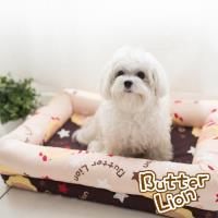 奶油獅-MIT搖滾星星寵物記憶床墊-特大60x120cm(25kg以上適用)-卡其咖啡
