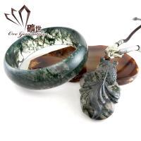 礦世珠寶墨色山水天然海洋海藻玉套組(隨機出貨)-獨