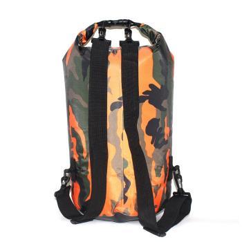 PUSH!戶外用品迷彩單肩手提防水包袋15L溯溪包漂流袋防水桶包P131
