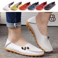 【88%】休閒鞋-真皮鞋面 豆豆鞋底 舒適簡約兩穿休閒鞋 套腳懶人鞋