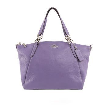 COACH 馬車LOGO皮革二用包(紫色) F28993 SVOCB