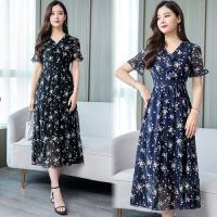 韓國K.W. (預購) 韓式名媛夏日氛圍洋裝