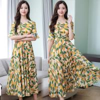 韓國K.W. (預購) 韓國設計粉彩印花洋裝