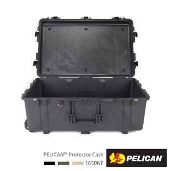 美國PELICAN1650輪座拉桿氣密箱-空箱(黑)