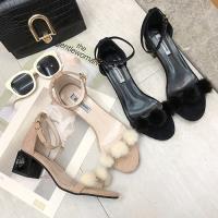 Alice (預購) 韓國設計三球時尚粗跟涼鞋