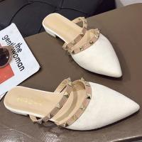 Alice (預購) 超有型雙色耀眼尖頭穆勒鞋
