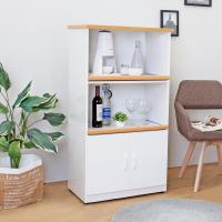 Boden-2.2尺二門二拉盤防水塑鋼電器櫃/收納餐櫃(白色)