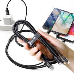 Baseus倍思 可傳輸充電線一拖三數據線 for Lightning 8 Pin+Type-C+Micro USB-120CM