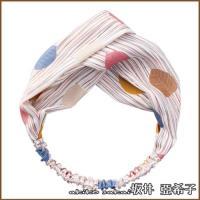【Akiko Sakai坂井亞希子】甜美森林系拼色葉子風格打結髮帶