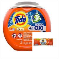 Tide汰漬洗衣凝膠球-4in1活氧配方(952g/32顆)x1盒+洗衣槽洗潔劑(75g)x10包