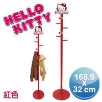 Hello Kitty 台灣製DIY木質衣帽架(三麗鷗正版授權)-紅色
