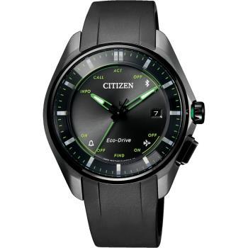 CITIZEN 星辰 限量鈦金屬光動能藍芽手錶-黑/40mm BZ4005-03E