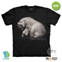 摩達客-預購-美國The Mountain保育系列拯救北極熊 兒童黑色純棉短袖T恤