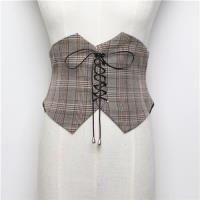 【米蘭精品】腰帶西裝腰封-格紋綁帶收腰顯瘦女配件4色73vh8
