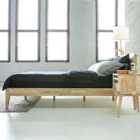 【obis】Woody北歐實木5尺雙人床架 實木床架(排骨架)