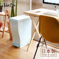 岩谷Iwatani 純色曲線長型可分類腳踏垃圾桶(附輪)-33L