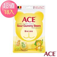 【ACE】比利時進口 酸熊Q軟糖隨手包18入組(48g/包)