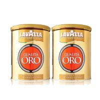 LAVAZZA Qualita ORO金牌咖啡粉2件組(250gx2)-精裝鐵罐