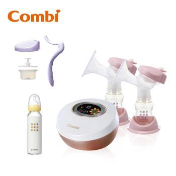 日本Combi 自然吸韻雙邊電動吸乳器 贈手動配件+奶瓶