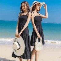 【維拉森林】清新甜美海邊度假雪紡洋裝S-XL