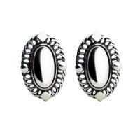 【Georg Jensen 喬治傑生】2004年度銀石夾式耳環