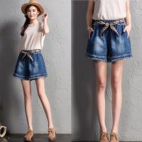 韓國K.W. (預購) 韓新品輕鬆舒適牛仔短褲