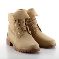 Timberland女款中駝色磨砂革翻領靴A228GK38