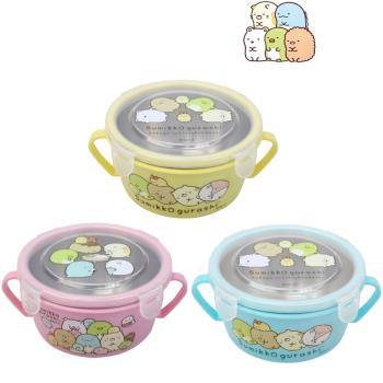 (角落生物) 兒童不銹鋼雙耳兒童碗450mlx3入隨機/兒學習隔熱碗
