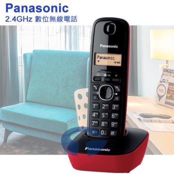 Panasonic 國際牌DECT數位無線電話 KX-TG1611 (聖誕紅)