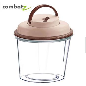 智能真空保鮮罐 2公升 大瓶口 (粉/藍/綠/咖) 保鮮防潮 飼料桶首選 自動偵測罐內空氣