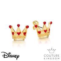 Disney Jewellery - Couture Kingdom 迪士尼愛麗絲夢遊仙境紅心皇后鍍14K金耳釘