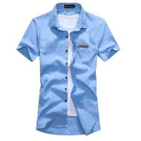 BuyGlasses 鮮色窄版素面短袖襯衫
