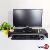 LOGIS邏爵 兩入組MIT台灣製 防水馬鞍皮雙層桌上架 收納架 置物架 鍵盤架 液晶螢幕架 增高架LS-3SS