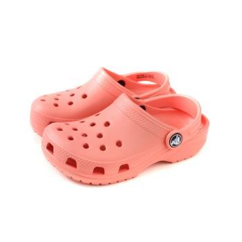 Crocs 涼鞋 休閒鞋 防水 雨天 珊瑚粉 童鞋 204536-737 no005