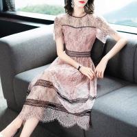 RN-girl-精品縷空蕾絲短袖洋裝