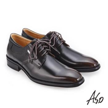 A.S.O 3D超動能 經典熱銷真皮鞋-茶